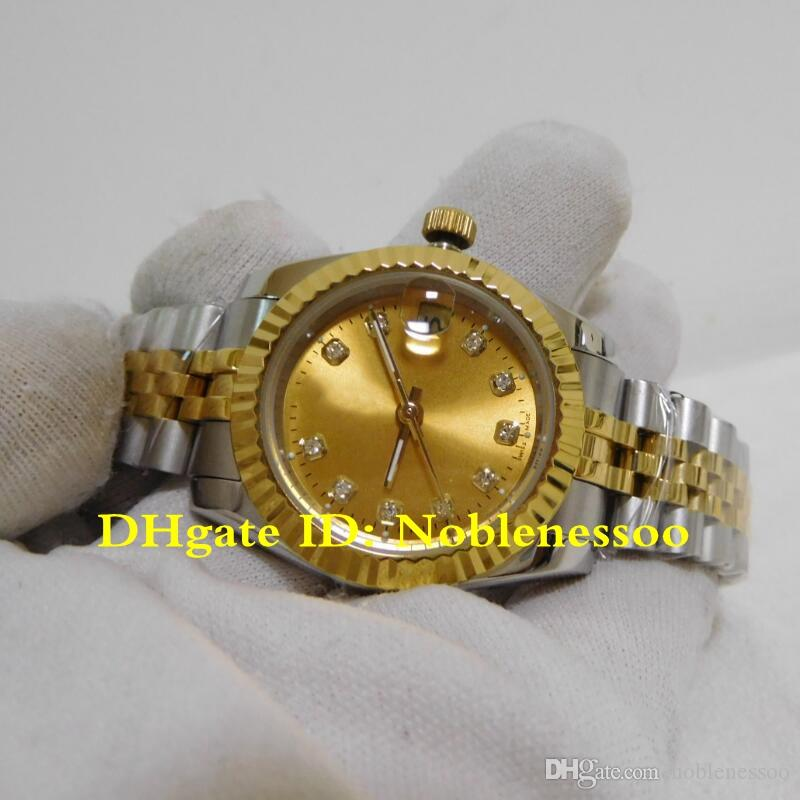 16 نمط السيدات الساعات الفاخرة روليكس سيدة 31MM صلب الذهب الماس الهاتفي الساعات التلقائي 178273 اليوبيل سوار آسيا 2813 الحركة النسائية