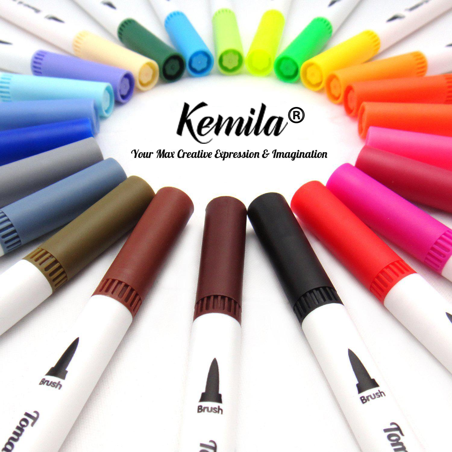 2020 Art Markers Dual Tips Coloring Brush Fineliner Color Pens Watercolor Marker Calligraphy Drawing Sketching Coloring Book From Shenzhenwkf 17 59 Dhgate Com