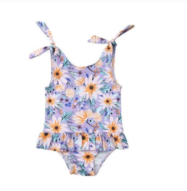 2020 العلامة التجارية الوليد الاطفال طفلة ملابس ملابس عباد الشمس شاطئ الصيف BODYSUIT سباحة اللباس ثوب السباحة ملابس السباحة عطلة
