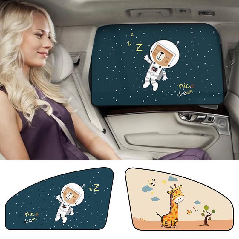 Magnetische Auto Cartoon Vorhang Abdeckung Sun Blocking Auto Vorhang Seite Blockieren Zug Sonnenschutz Vorhang Für Kinder Auto-styling