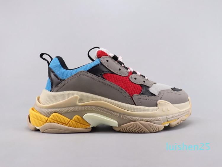 Kadın Erkek Triple-S Tasarımcı Ayakkabı Platformu Sneakers Parça Erkek / Bayan kalite Kırmızı alt üçlü s L25 için 3.0 Casual Luxury baba Ayakkabı