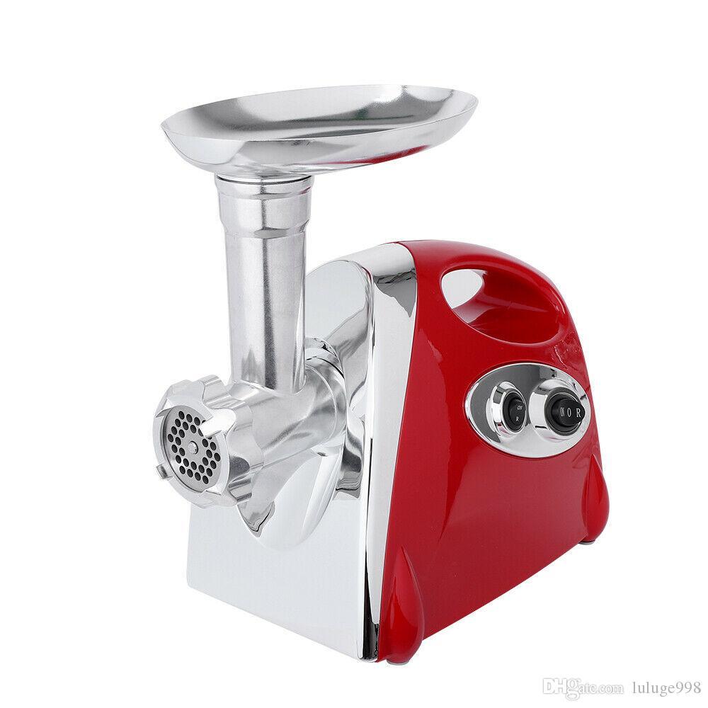 Viande électrique commerciale Grinder Saucisse Maker Filler Stuffer poignée rouge