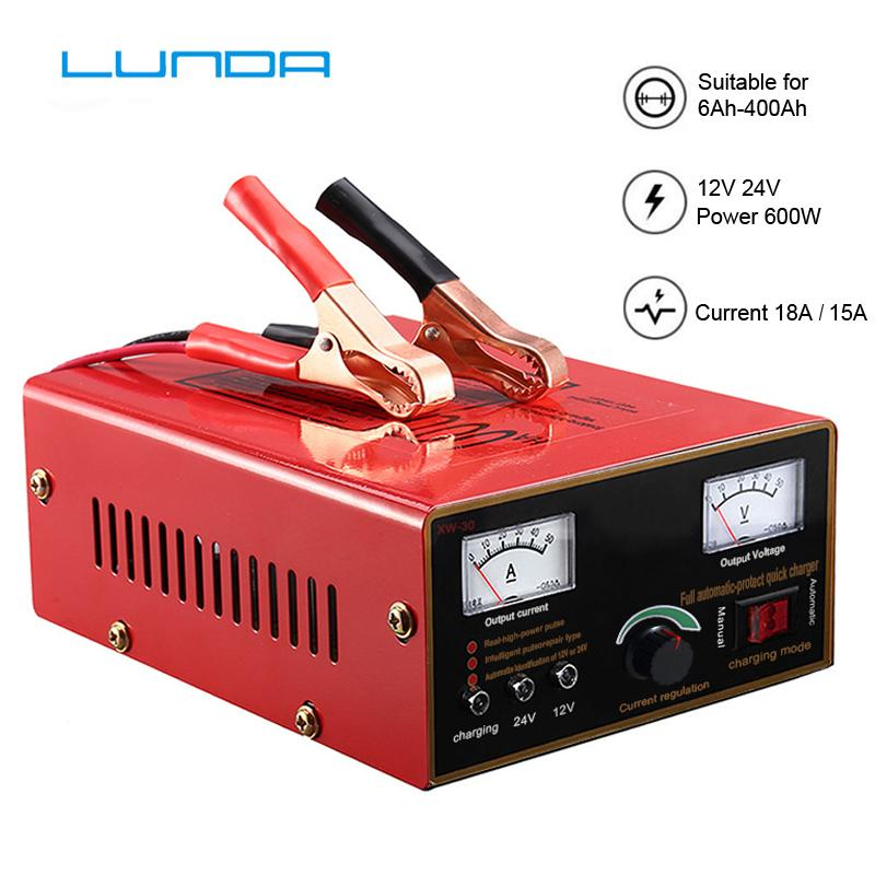 2020 600W Powerful Full Automatic 12V 24V Car Battery Charger Intelligent Pulse Repair Voltage Digital Display Lead Acid AGM GEL From Qq464303616,