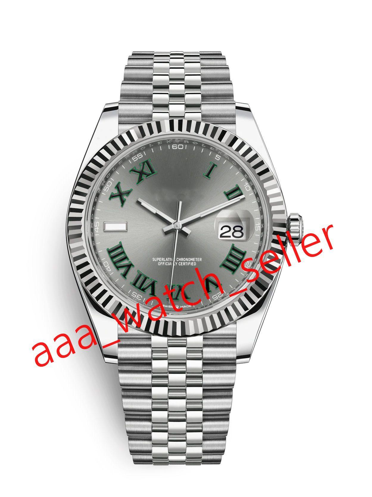 12 цветов Высококачественные мужские менчанические автоматические часы движения 41 мм 1416334 126333 Браслет бешель бешель юбилейный браслет SS316L