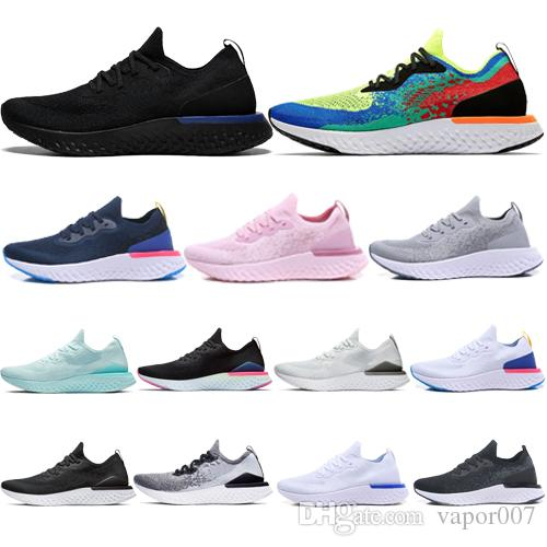 2019 alta Epic React v2 Designer homens mulheres voar Sapatos BEACH malha Sprite Bélgica PE Crepúsculo ao Amanhecer BETRUE Oreo GS running sport Sneaker