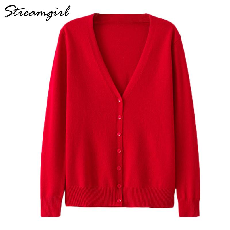 Women's Cashmere Cardigan Women Long Sleeve Knitted Female Cardigans Short Ladies Cardigans Plus Size Cardigan Femme Large Size T191021