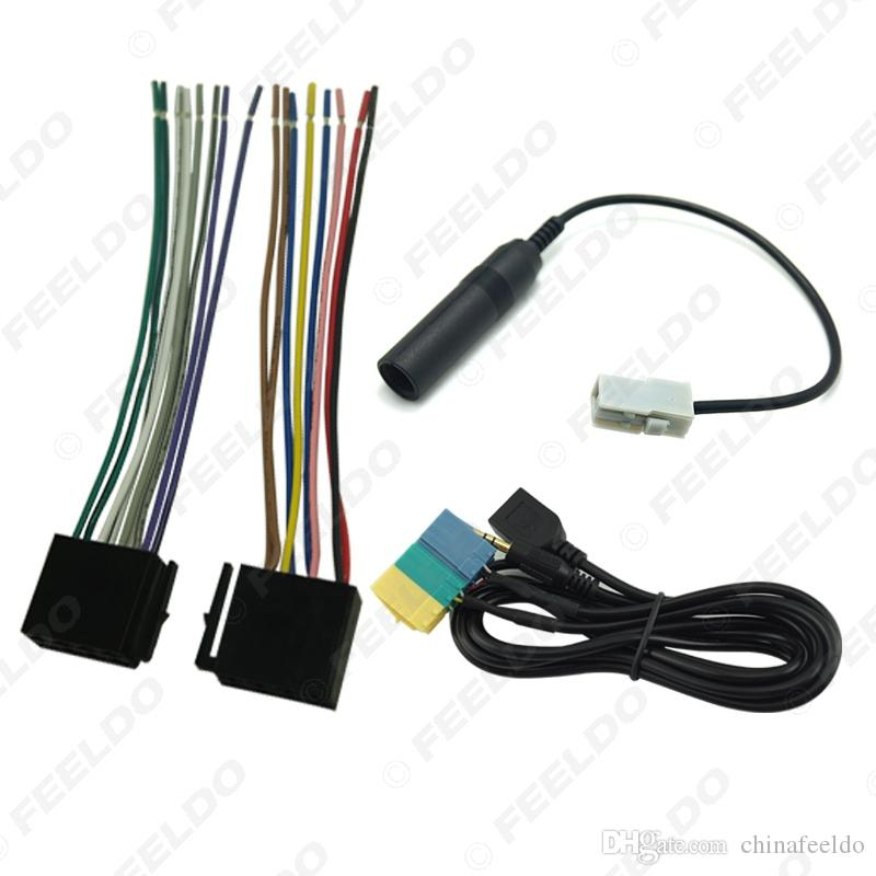 Car AUX/USB/Power Harness/Antenna Adapter Suite Set For Hyundai PA710S/KIA Soul Radio/CD/MP3 #3240