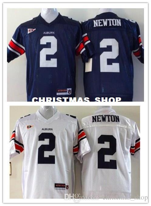 Por atacado baratos New Cam Newton Football Jersey AZUL BRANCO costurado de alta qualidade