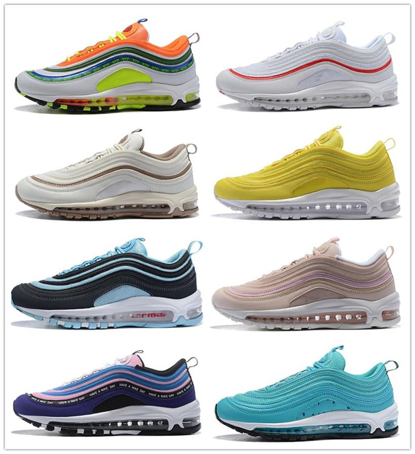 Yellow Steelers 97 x UNDEFEATED OG UNDFTD Running shoes 97s SE Triple white black South Beach Persian Violet Men women sports Sneakers 36-46