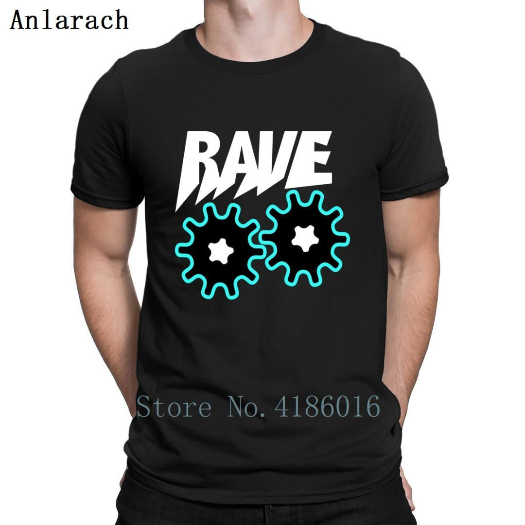 Rave Geometric Pattern Blue Black Party Club T Shirt Outfit Designs Mens Streetwear Shirt Short Sleeve Tee Tops Summer Quirky