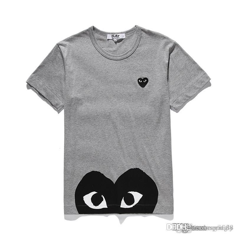 2018 COM Uomo Uomo Donna Gery CommeS des GARCONS T-shirt con manico bianco Misura M Pronta decisione F / S