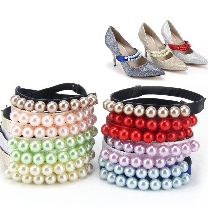 BSAID 1 paire perle talons Bands, Lacet Chaussures Accessoires Straps Décoration femme, Chaussures charme dentelle pour desserrées Chaussures Utiles