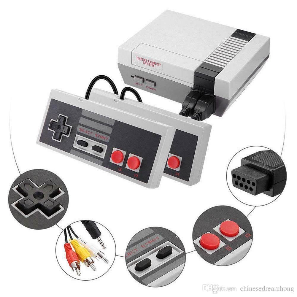 جديد وصول نيس TV البسيطة يمكن تخزين 500 620 لعبة اللاعبين المحمولة وحدة التحكم فيديو محمول لألعاب NES المفاتيح وث صندوق البيع بالتجزئة حزمة