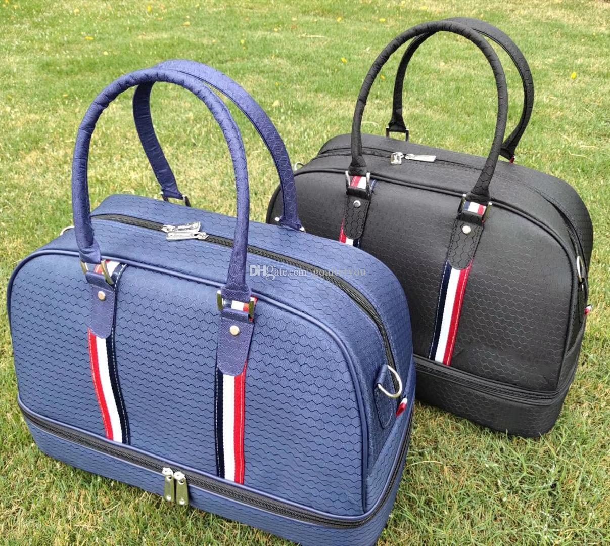 أسود أزرق جولف بوسطن حقيبة ذات نوعية جيدة جولف الملابس حقيبة أحذية حقيبة