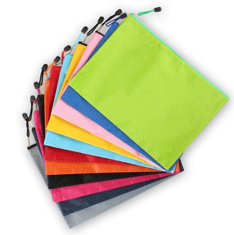 11 اللون سستة للماء كيس أكياس A4 كرة القدم نمط قماش قلم رصاص الملف جيب اللون النقي كيس القرطاسية متعددة الوظائف