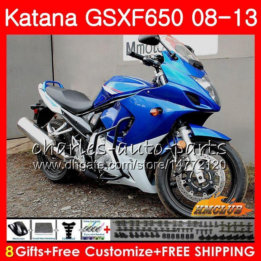 Kit For SUZUKI KATANA GSXF 650 2008 2009 2010 2011 2012 2013 2014 18HC.65 light blue GSXF-650 GSX650F GSXF650 08 09 10 11 12 13 14 Fairing
