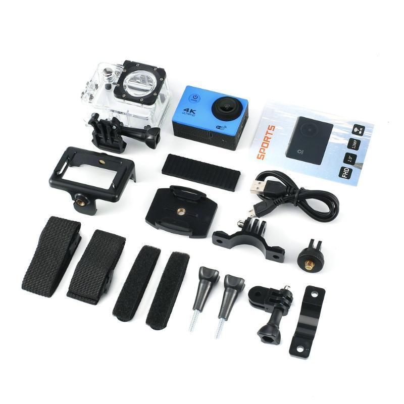 4K ação da câmera de 16MP Vision 3 Underwater Camera Waterproof Wide Angle WiFi Cam Sports com montagem Kit Acessórios