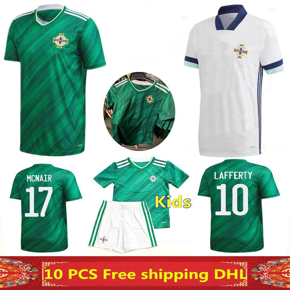 Новейшие тайские качества Северной Ирландии Футбол Футбол 2021 Главная Выезд Человек + Детская футбольная рубашка может быть смешанным заказ
