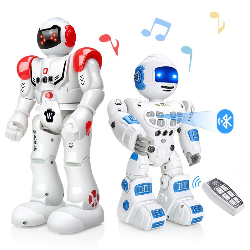 DODOELEPHANT Remote Control Robot Toy Smart Child RC Robot With Sing Dance Action Figure Toys For Boys Children Birthday Gift Y200413