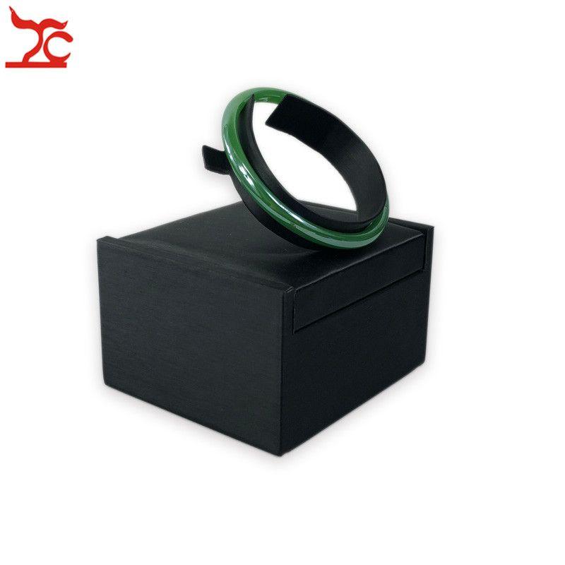 Negro PU cuero pulsera soporte joyería exhibidor brazalete Jewellry encimera escaparate ventana exposición