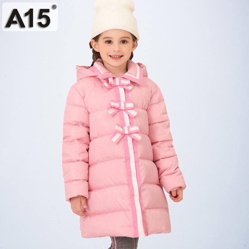 Девушки вниз пальто Зимняя одежда куртка Длинные девушки Parka Верхняя одежда 2020 мода для детей куртки пальто Теплый Размер 6 8 10 12 лет