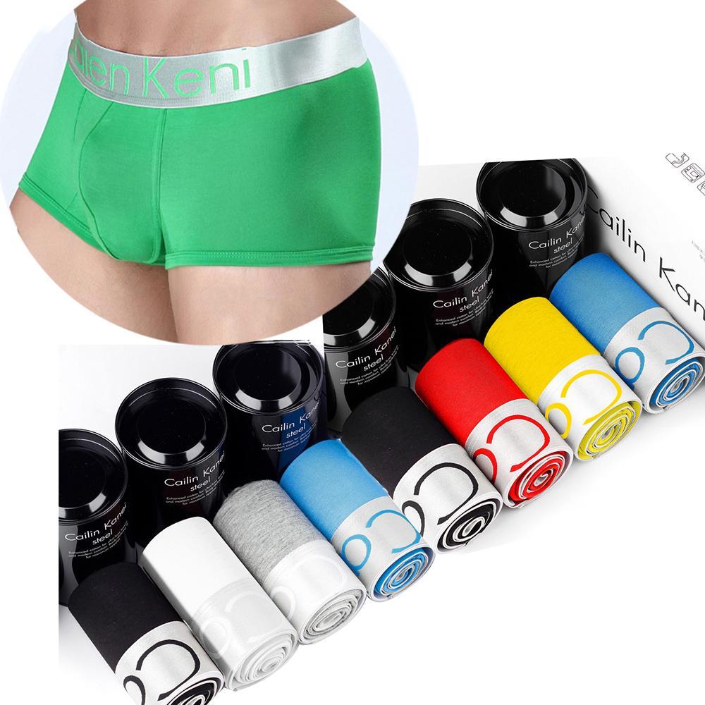 10PCS / LOT Boxershorts ملابس داخلية رجالي الملاكمين هومبر Bokserki القطن الرجال لينة الملاكم تنفس ملابس داخلية شحن سريع