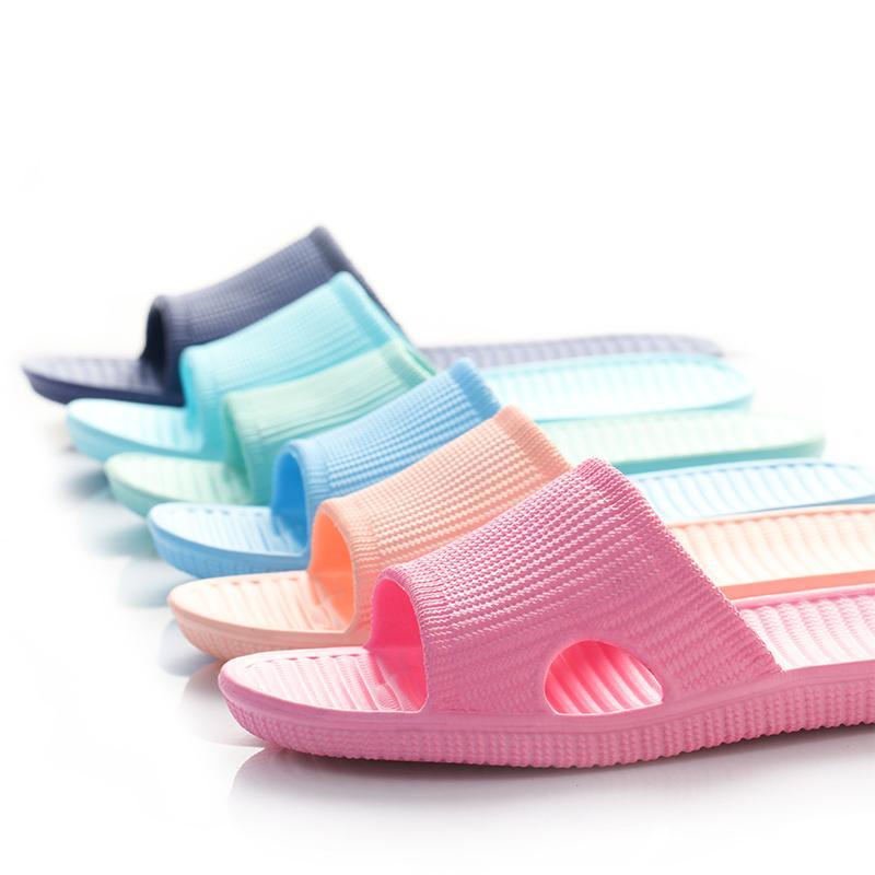 Zapatillas 35 ~ 45 Sandalias unisex Sandalias Baño antideslizante Suave Inferior Hogar Piso Indoor Familia Cuarto de baño Hombres y mujeres