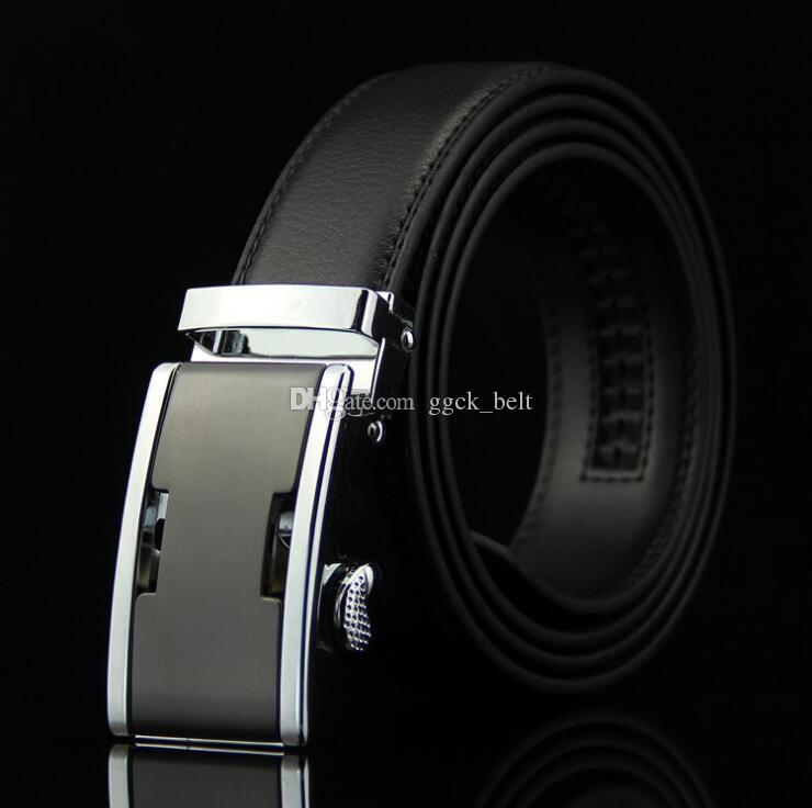 2019 Desinger Belt Include Cintura da uomo originale Cintura da donna Cintura in pelle nera Fibbia automatica di buona qualità