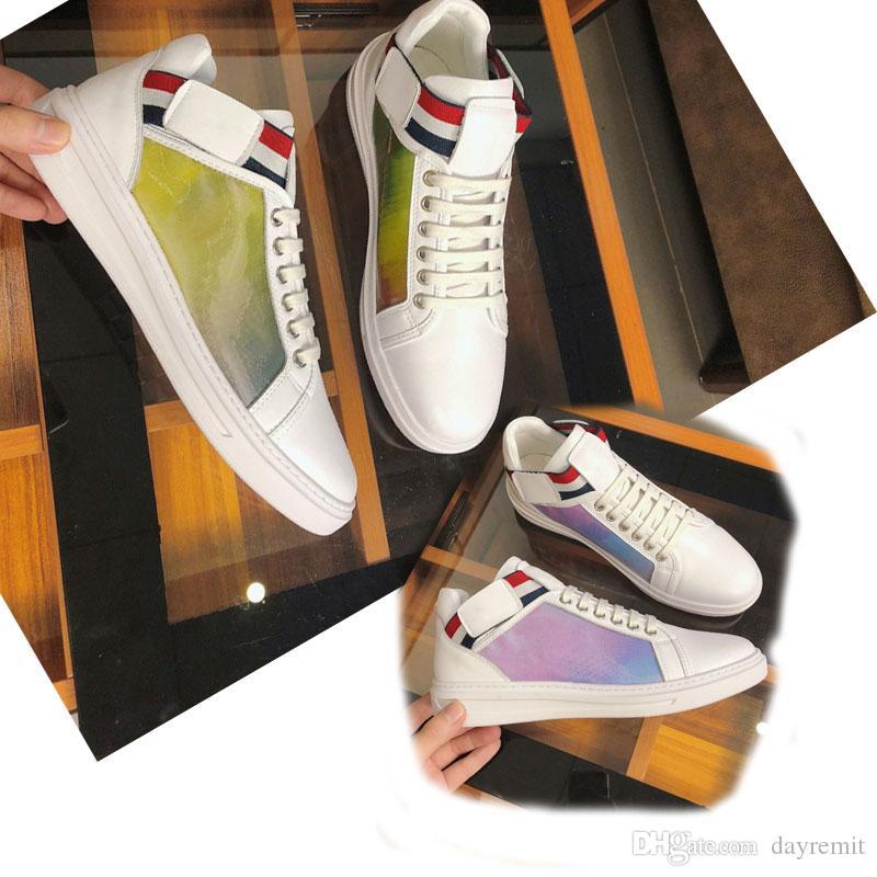 2019 nuova moda scarpe LUSSEMBURGO Scarpe casual Marca Allenatore 3M Designer in pelle bianca Rivoli Boombox Uomo Scarpe basse per il tempo libero moda