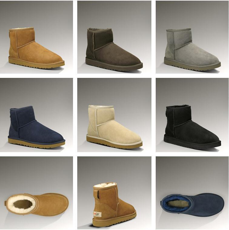 2020 WGG clásicas botas de invierno para las mujeres Australia castaña negro, azul, rosa arranque diseñador de café de la nieve de la piel para mujer botas hasta la rodilla tobillo