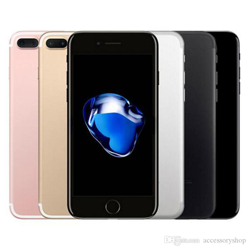 Refurbished Original Apple iPhone 7 Plus 5.5 inch Fingerprint iOS A10 Quad Core 3GB RAM 32/128/256GB ROM 12MP Unlocked 4G LTE Phone DHL 1pcs