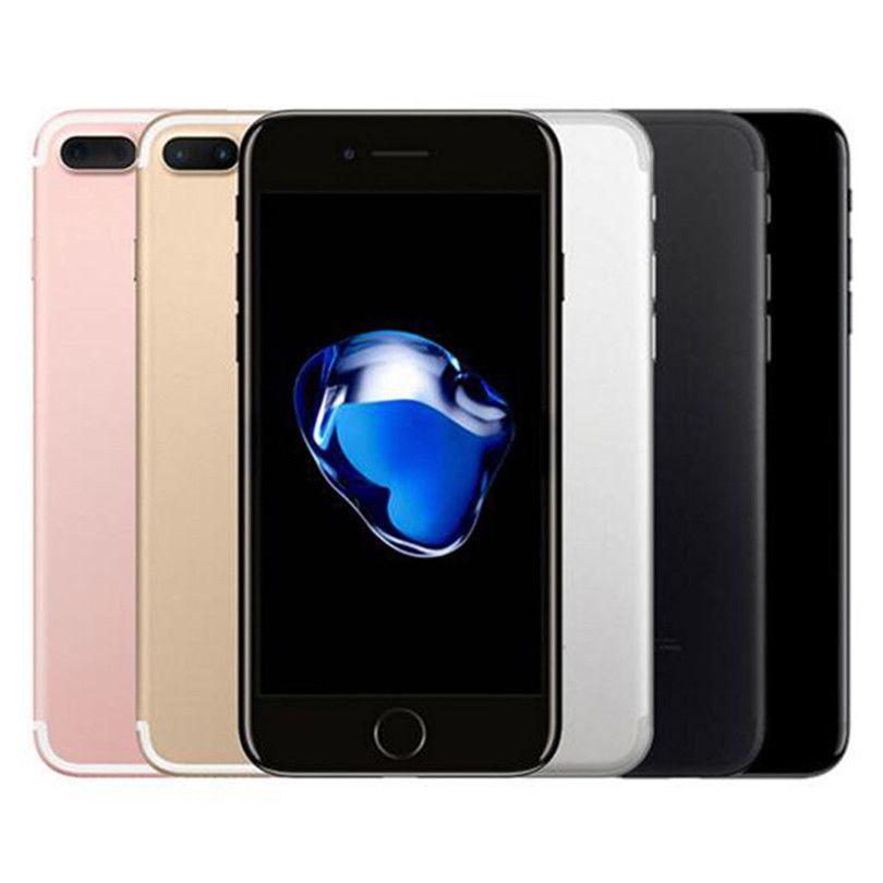 تم تجديده الأصلي التفاح iphone 7 زائد 5.5 بوصة بصمة ios a10 رباعية النواة 3 جيجابايت رام 32/128 / 256 جيجابايت rom 12MP مقفلة 4 جرام lte الهاتف dhl 1 قطع