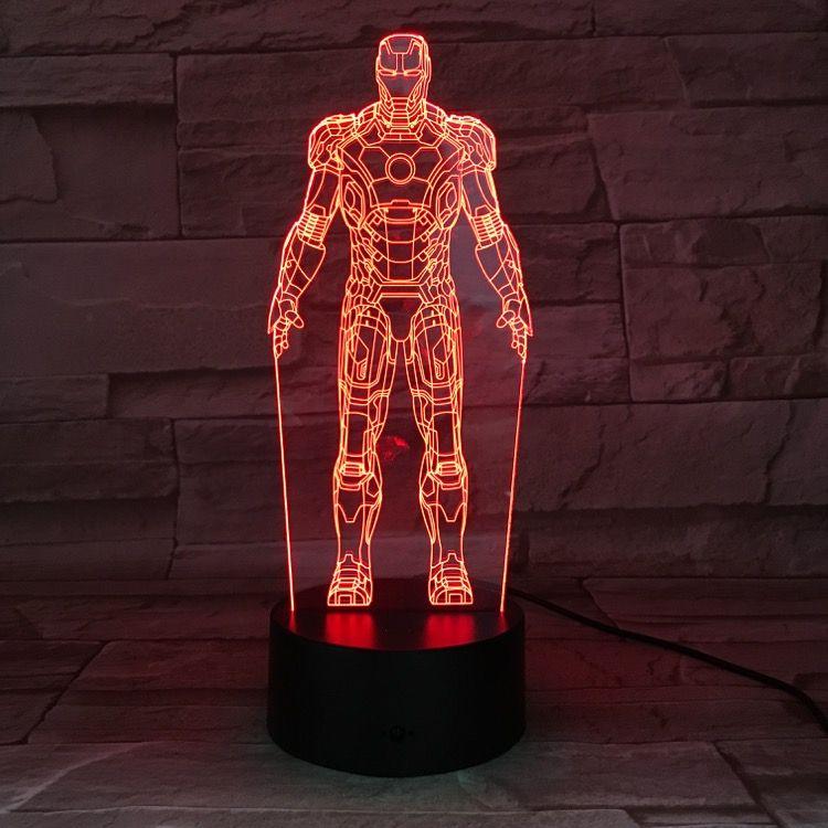 Acquista Spedizione Gratuita The Avengers Figure Iron Man Lampada Da Tavolo Colore Acrilico Che Cambia 3d Led Night Light Ragazzi Presenti Luci Di Festa Di Natale A 8 84 Dal Slonglight