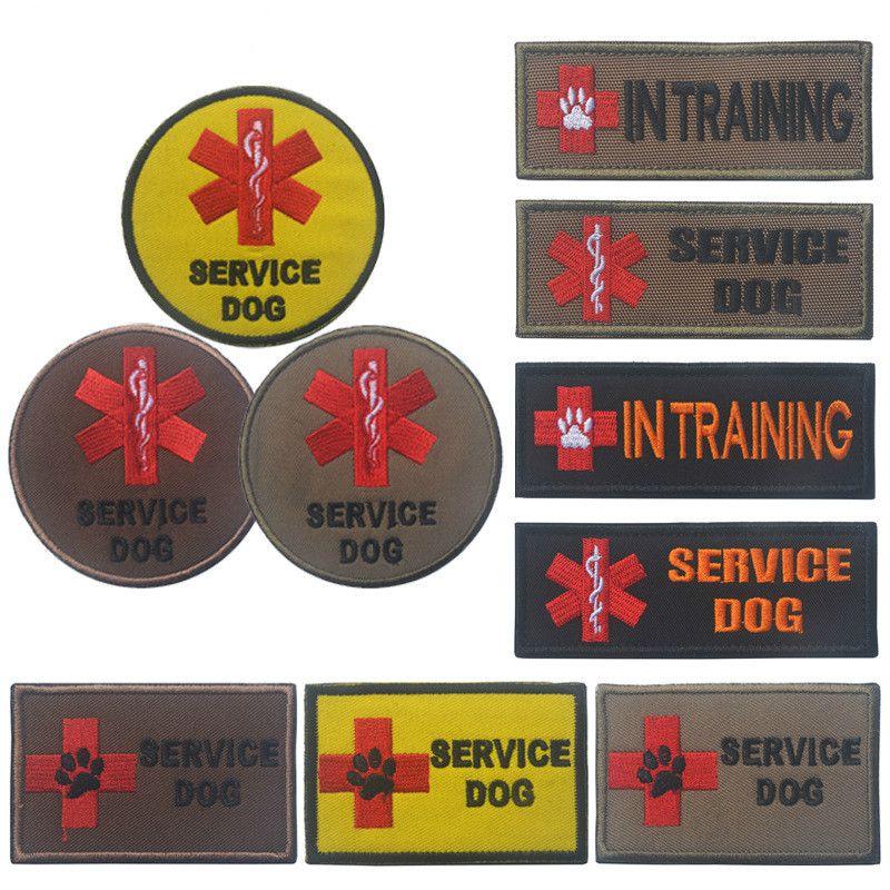 Dog In Training Patches Stickerei Applikationen zum Nähen