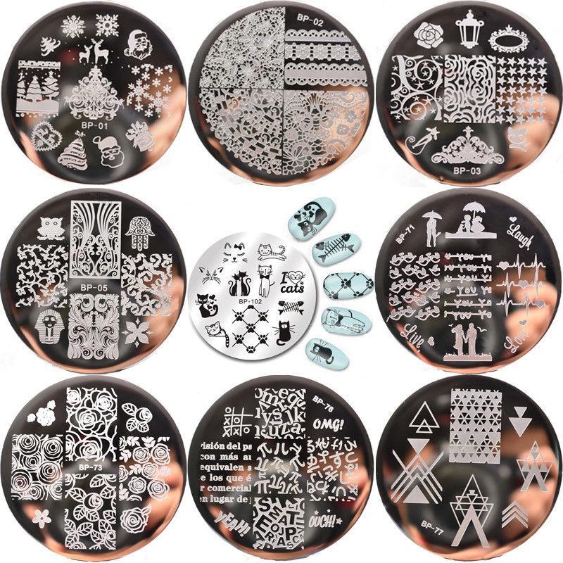 BORN PRETTY Nail Art Stamping Plate Stamper Scraper Template Image DIY Tool 1PCS