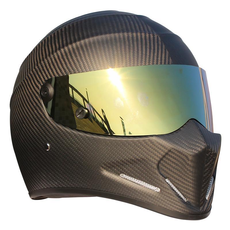 CRG ATV-4 Personalized Carbon Fiber Frosted Helmet Motorcycle Racing Full Face Helmet F1 Capacete De Moto Riding Cascos Motorrad