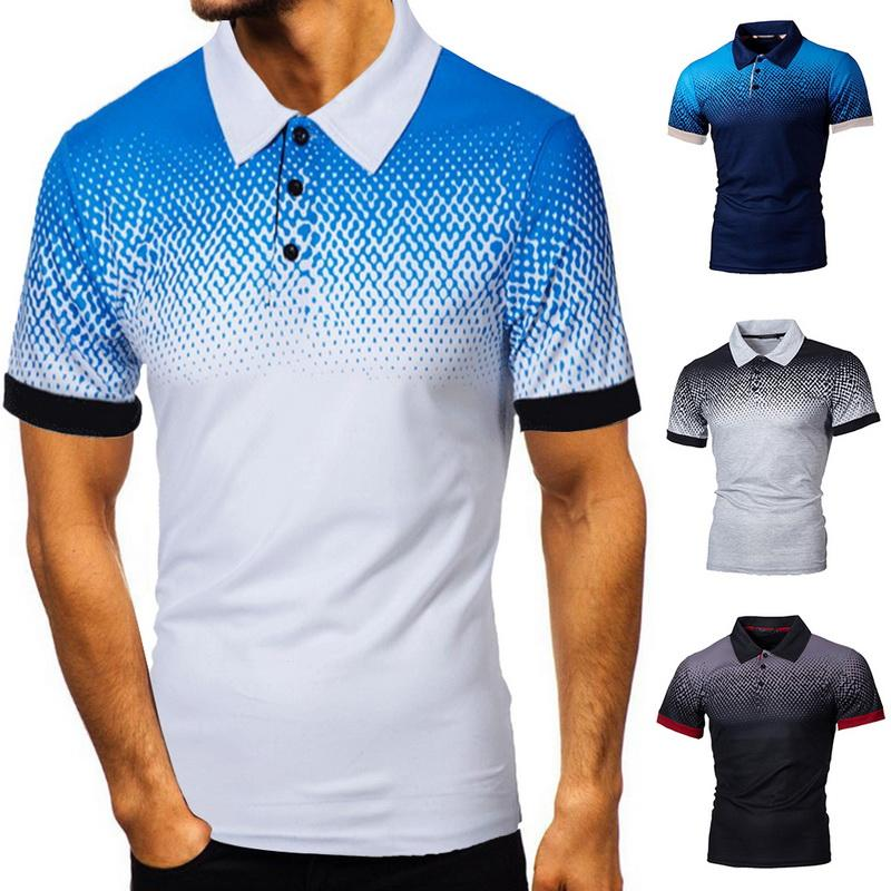 Camicia Uomo 2020 del nuovo cotone Tee manica corta da uomo traspirante Camisa Masculina Hombre Golftennis Plus Size 5XL