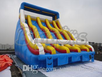 Commercial Grade Inflatable Slide Multiple Lanes Water Park Slide For Sale