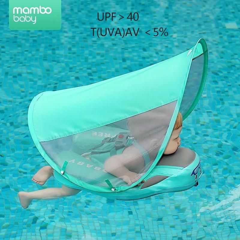 Mambo Baby-Schwimmen Float Ring Swim Trainer nicht aufblasbare Sonnenschutz für Kinder Float Liegen Pool Spielzeug Badewanne für Zubehör