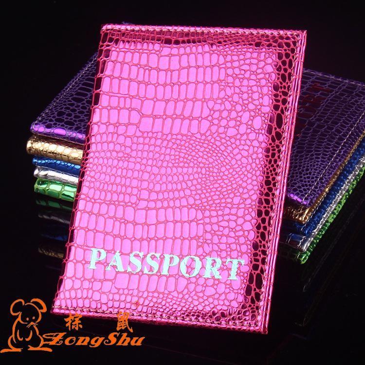 Zongshu brillance couverture du passeport de crocodile pour les femmes nouvelles couvertures pour les documents de voyage créateur de mode titulaire du passeport