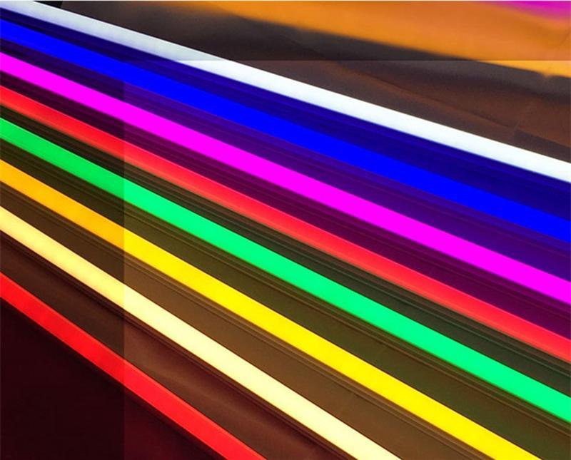 T8 LED 컬러 튜브 빛 G13 V-모양 4피트 28w 레드 블루 옐로우 그린 핑크 오렌지 색상 LED 튜브 조명