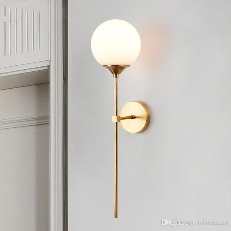 Modern minimalist wall lamp living room Nordic personality bedroom bedside llighting mirror front aisle corridor background wall light L121