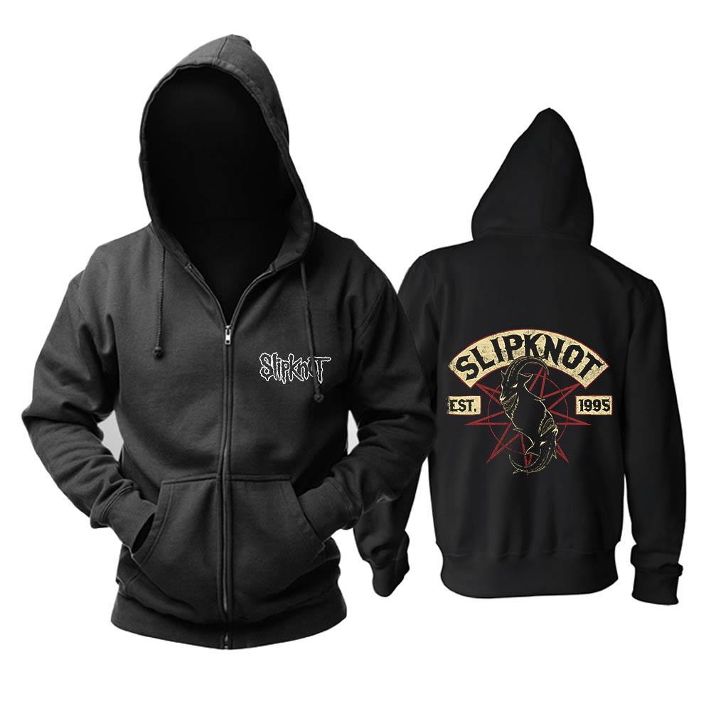 Bloodhoof Free shipping Slipknot Nu Metal Alternative Metal cotton zipper hoodie Asian Size