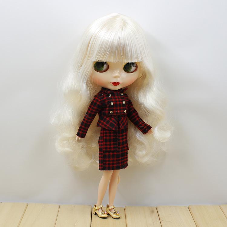 Blyth Puppe Eisige Licca-Körper 6025 Elegante weiße Haare Normales Körper Spielzeug Geschenk 1/6 30 cm