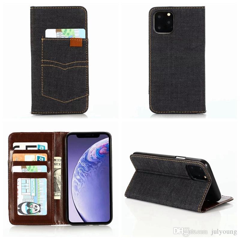 Para Iphone 11 Pro Max 2019 New sugar Jean lona Carteira Couro Moda Virar fecho magnético Luxo Pouch tampa do cartão ID Titular slot