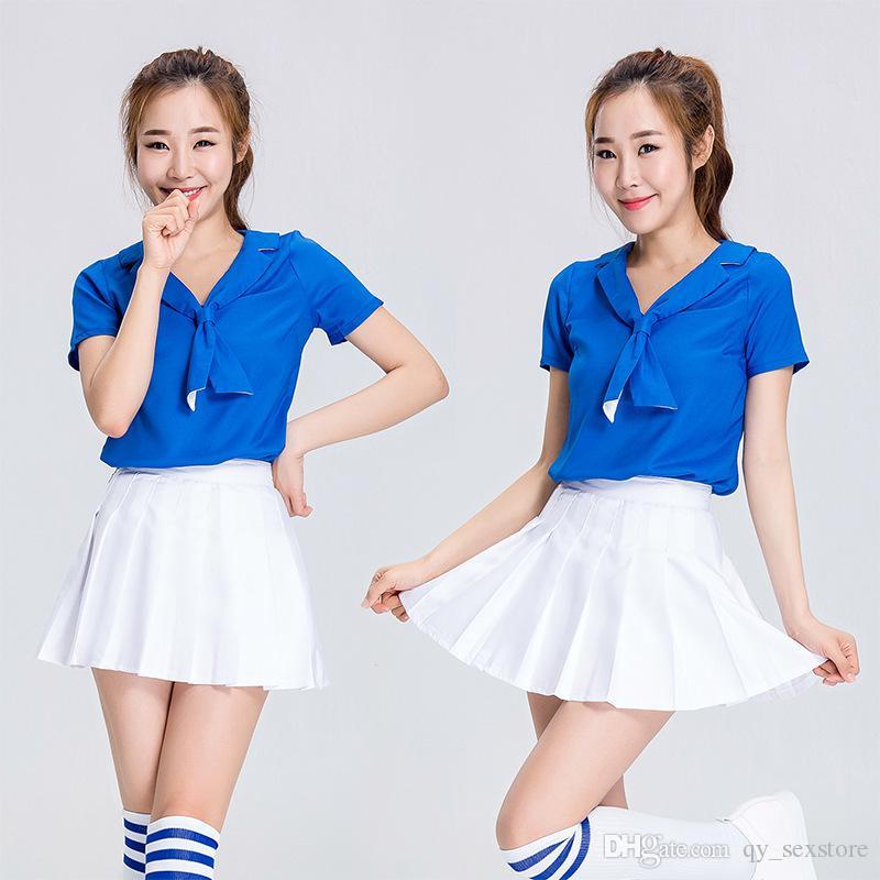 Nuove donne cheerleader costume cheer leader uniformi scuola ragazza cosplay abbigliamento sportivo squadra ragazza danza adatta