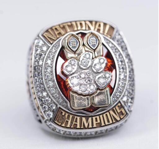 Belle commemorare nuovi anelli di 2018 appassionati anello campione Clemson Tigers raccolgono doni