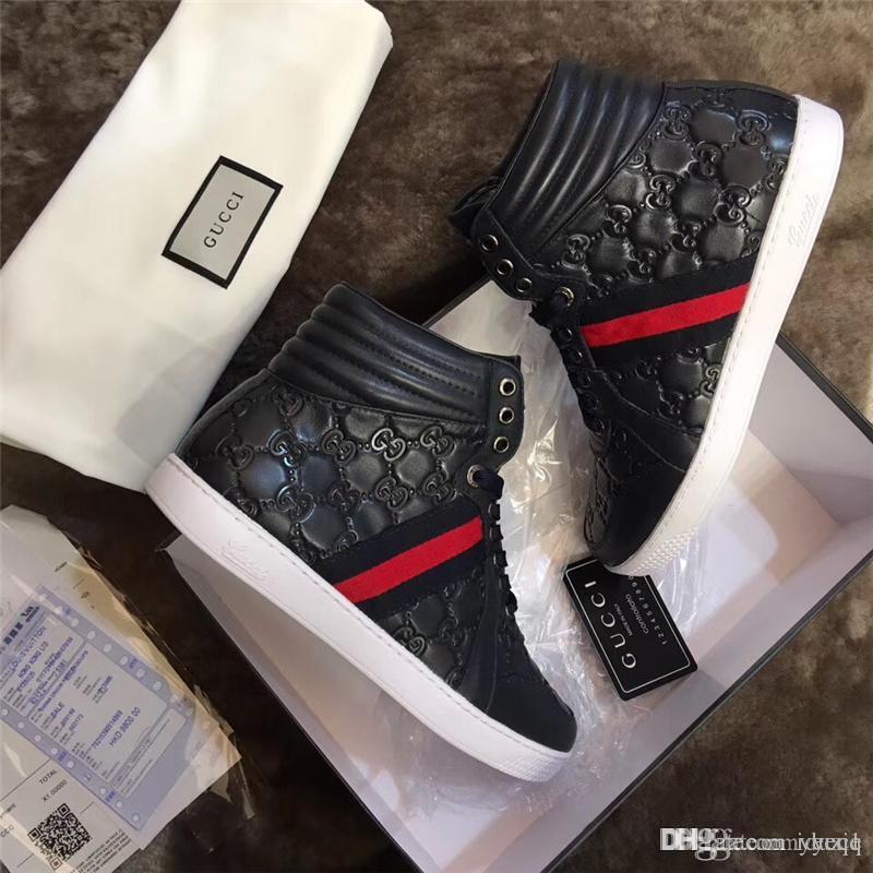 18ss 2019Fashion G Bas Plat En Plein Air Zapatillas Conduite Chaussures Hommes Femmes Casual Baskets Marque Rouge Bas Hommes Femmes Mocassins Sneaker