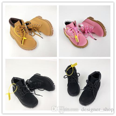 Timberland2020 botas Kinder Designer Sport-Schuh-Turnschuhe beiläufige Jungen Mädchen Trainer Weizen Schwarz Rot Luxus Kinder Baby-Geschenk 26-35 bootet