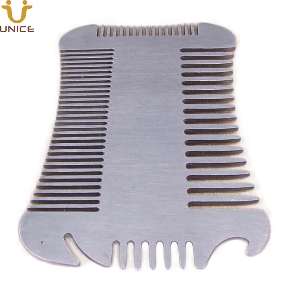 MOQ100 Multi-Functional Fine & Coarse Teeth 4 Sides Stainless Steel Beard Comb Metal Comb Bottle Opener Hair Comb for Men Custom LOGO
